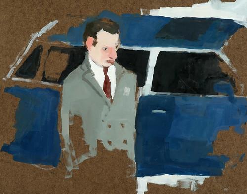 """Jennie Ottinger """"Blue Car"""""""