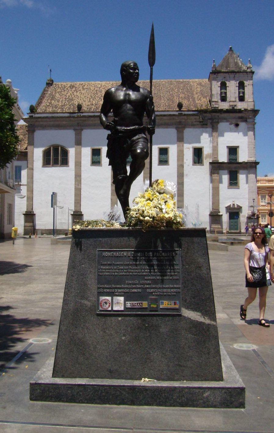Estátua de Zumbi dos Palmares - Salvador - Bahia