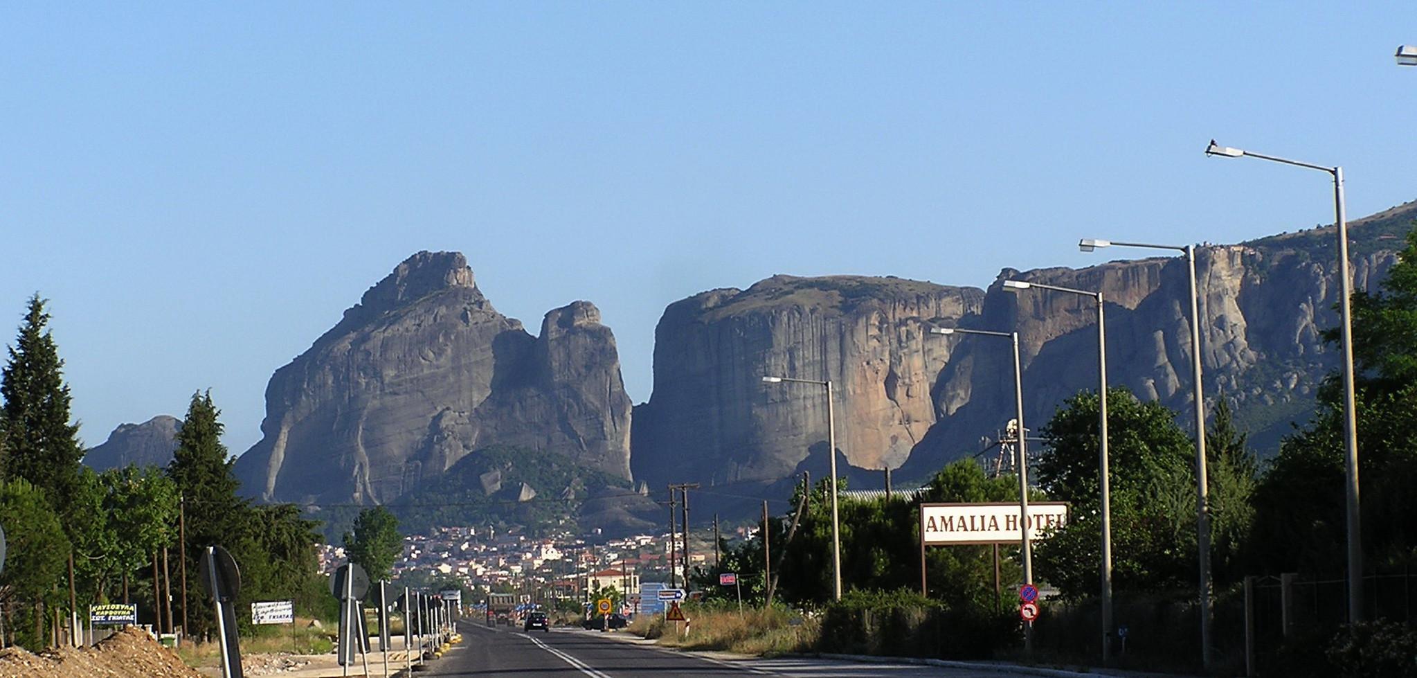 Grecia Llegada a Kalambaka en Meteora