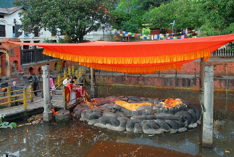 Budhanilkantha the lying Vishnu