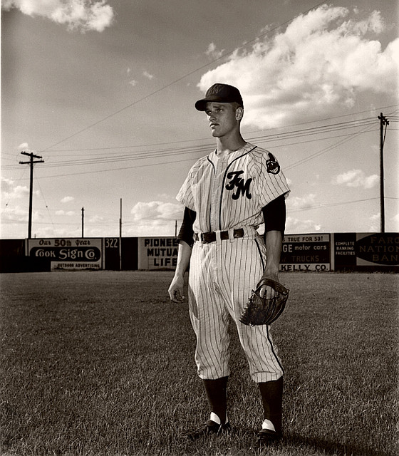 Roger Maris - July 5, 1953 in his rookie year with the Fargo-Moorhead Twins, a Class C affiliate of the Cleveland Indians.