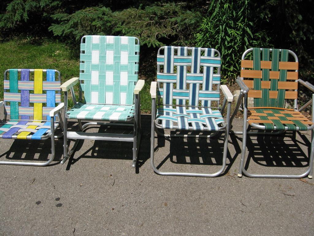 Vintage Aluminum Folding Lawn Chair | A Past rePurposed ...