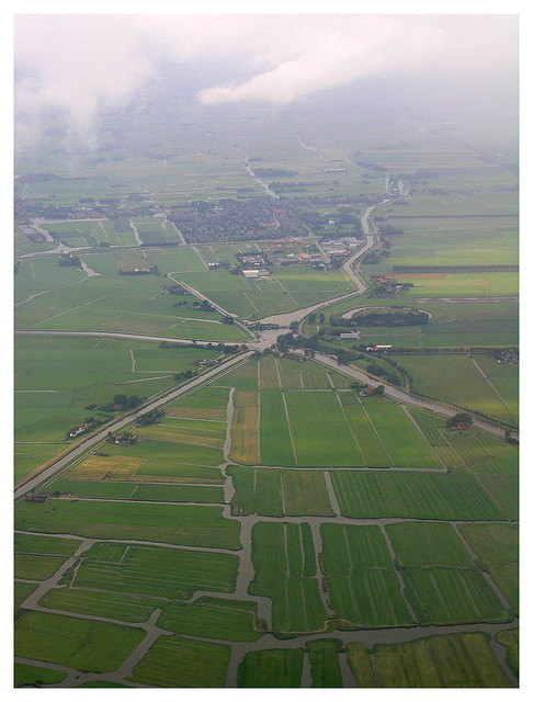 Dutch landscape from the airplane 2