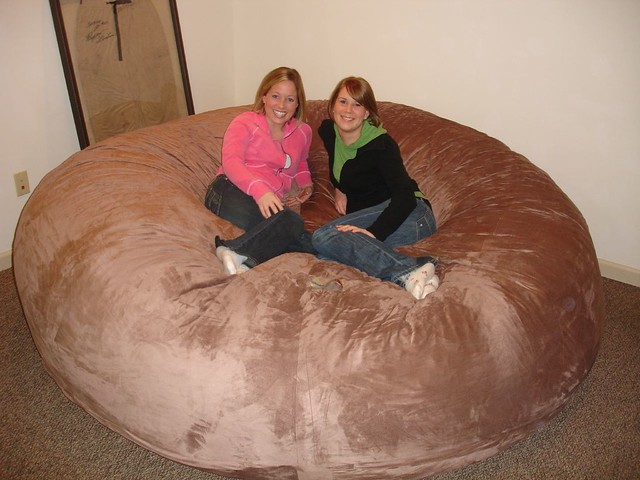 Awesome Huge Bean Bag Chair Lovesac Love Sac Comfy Sack Fombag Flickr Onthecornerstone Fun Painted Chair Ideas Images Onthecornerstoneorg