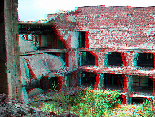 3d illinois ruins decay anaglyph eaststlouis