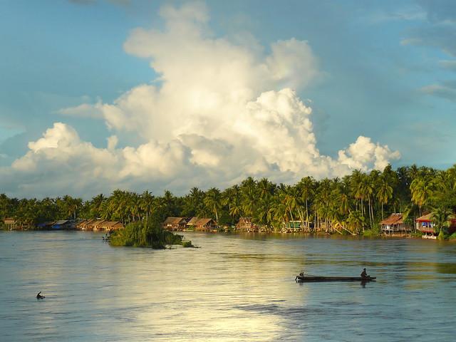 Don Khon overlooking the idyllic Mekong