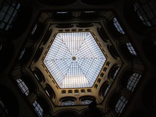 hexagon glass roof of Palais Ferstel | by darijus