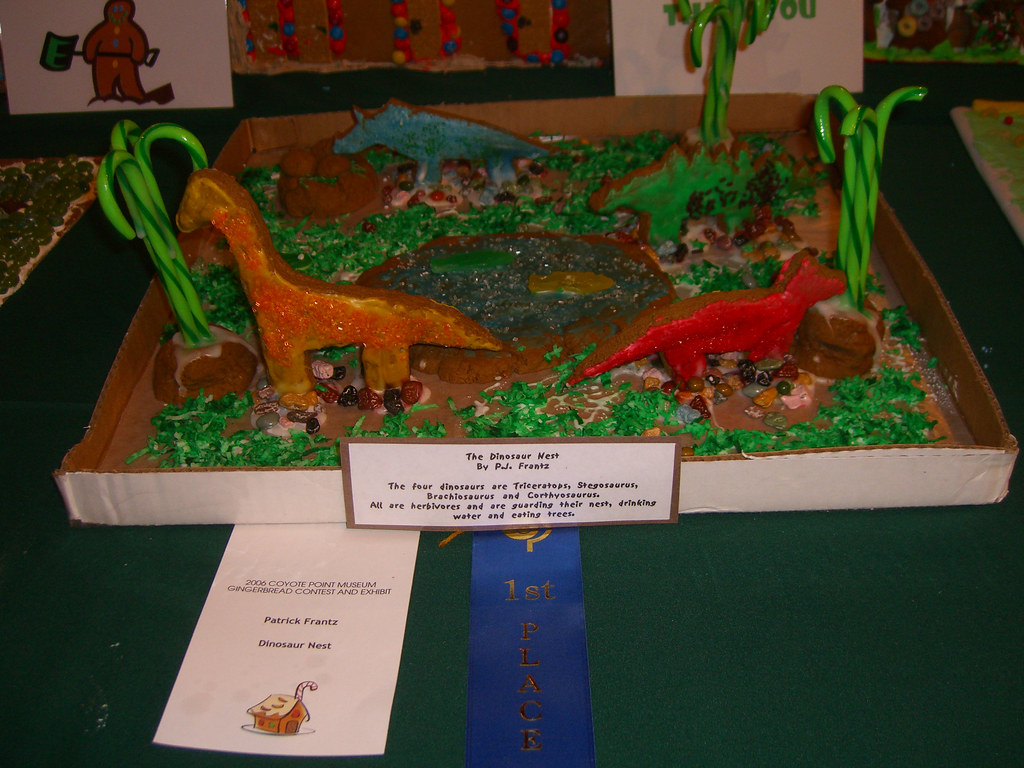 Gingerbread Dinosaur Habitat First Prize The Panel In Fro Flickr