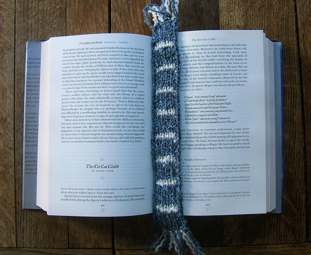 Mini-scarf bookmark | For my dad  | WordRidden | Flickr