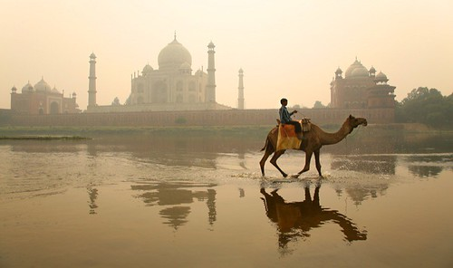 The Taj Mahal seen from across the Yamuna river | by Michael Foley Photography