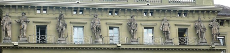 Interesting scultures on government building in Bern