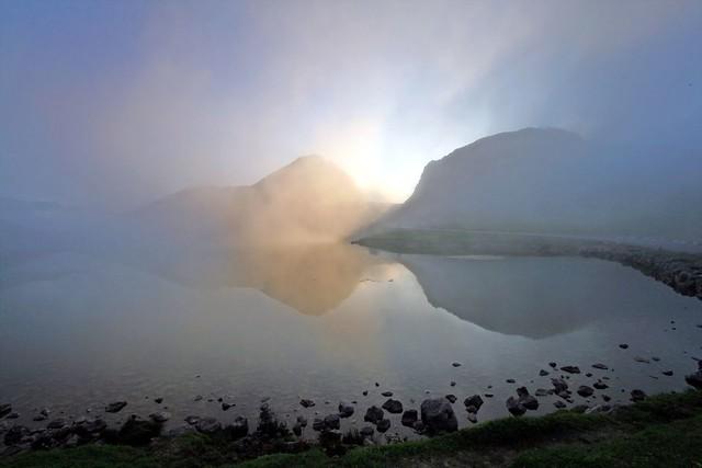 Sunset at Lago Enol, Asturias, España