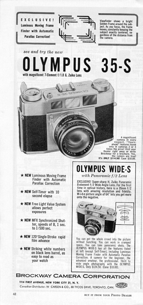 Olympus 35-S / Wides-S - 1958 | Nesster | Flickr