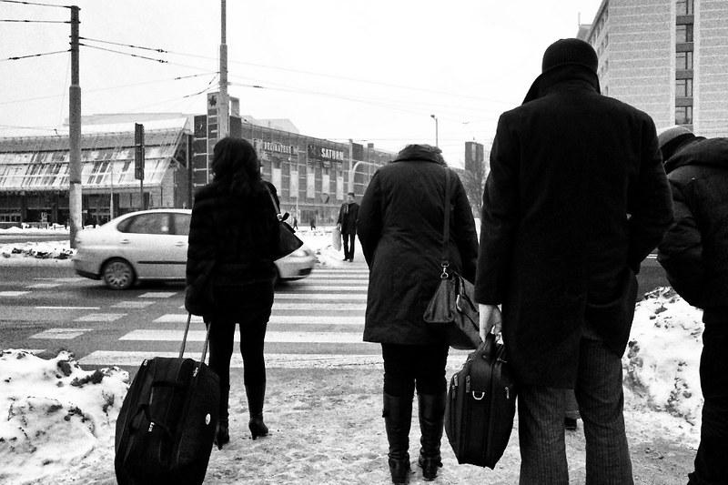 Wtargnięcie pieszego nadjeżdżający samochód