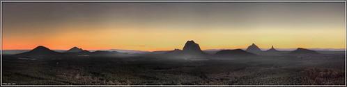 sunset panorama mist geotagged dusk smoke australia queensland desaturated glasshousemountains hdr wildhorsemountain abigfave anawesomeshot geo:tool=gmif geo:lat=26930335 geo:lon=152997751