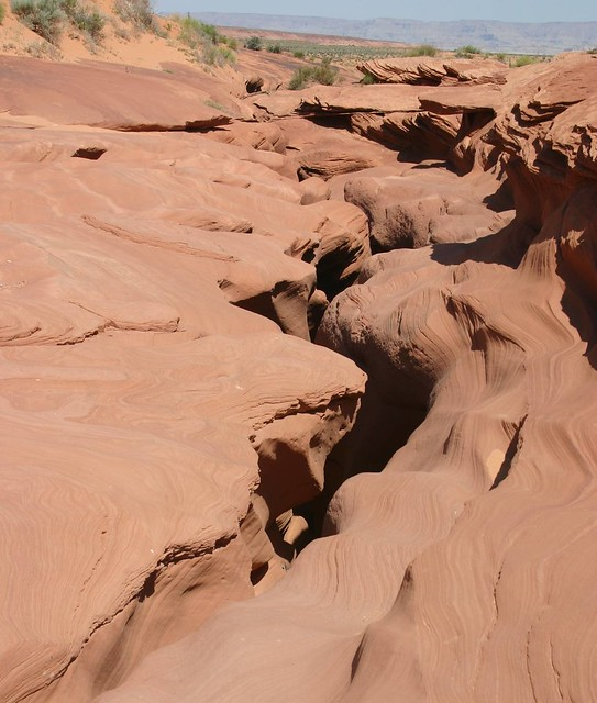 What a slot canyon looks like from the surface