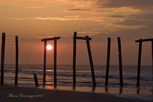 ocean old sky usa sun beach broken clouds sunrise d50 pier newjersey nikon ruins nj atlantic oceancity ocnj brokenpier 25faves aplusphoto diamondclassphotographer superhearts old59thstreetpier