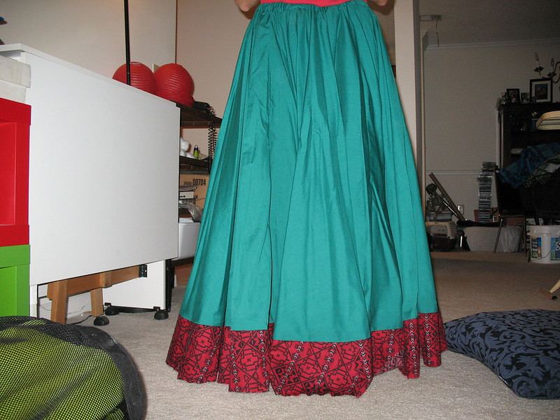 """Dragoncon skirt with """"ruffle."""""""