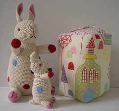 Handmade doorstop with Anne Claire Petit crochet rabbits | by london mummy