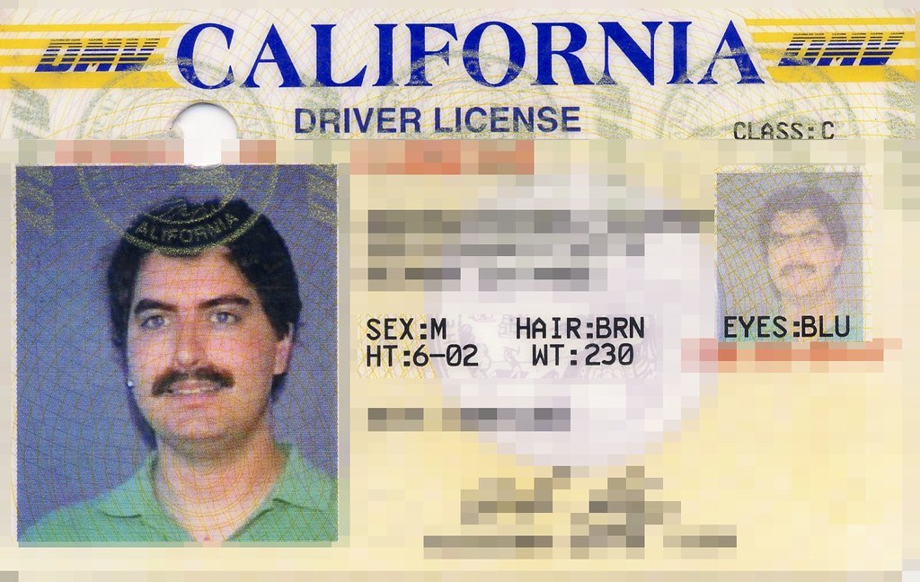 Driver's license ca  1998 | Not sure exactly when I had this