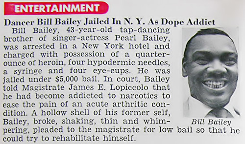 Pearl Bailey's Brother Bill Bailey Arrested on Heroin Charges - Jet Magazine Jan 26, 1956