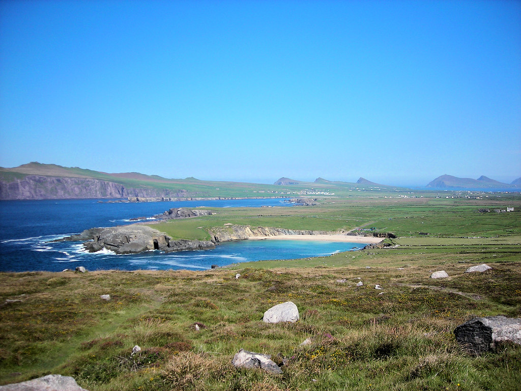 Clogher Head Beach and Sybil Point, Dingle Peninsula, Kerry, Ireland.