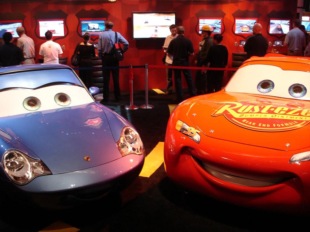 E3 2006 Pixar S Cars Sally Carrera And Lightning Mcqueen Flickr