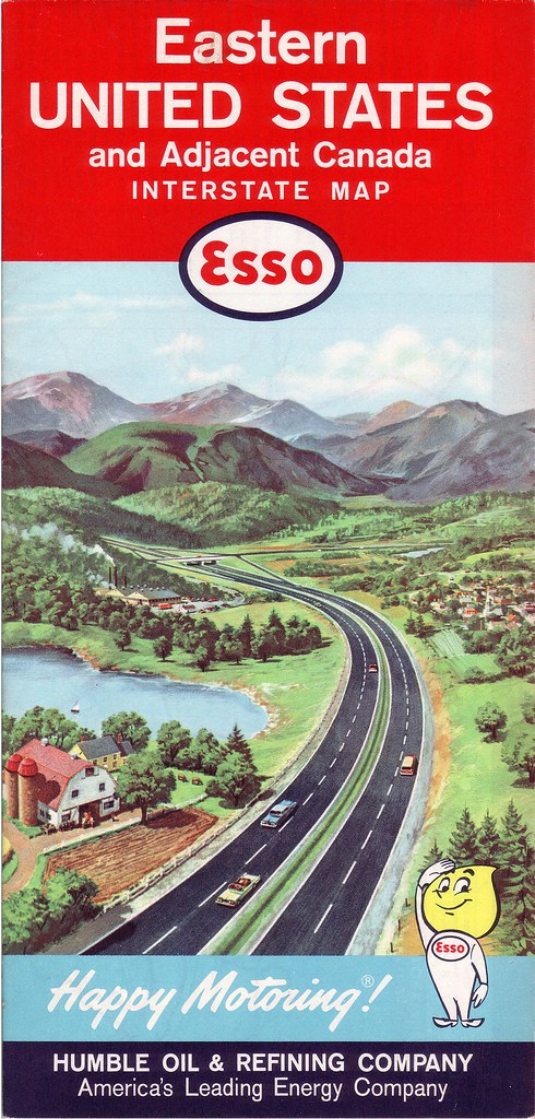 1962 Esso Road Map Of Eastern U S The Now Defunct General Flickr