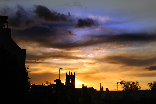sunset clouds scotland paisley