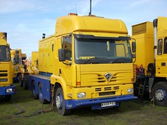 quicksilver coaches posted a photo:	W468 PAO2000 Foden AlphaMoscow State CircusCampbell Park, Milton Keynes, 14 March 2008Yellow Fodens as far as the eye can see when the Moscow State Circus came to Campbell Park. At the time this one was freshly into service and at eight years old had the honour of being the newest lorry with a circus, but is now (2019) out of use on SORN. It had started life as a 4x2 artic and the double-drive rear bogie was transplanted from another Foden.