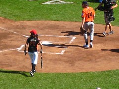 Leeann Tweeden coming up to the plate