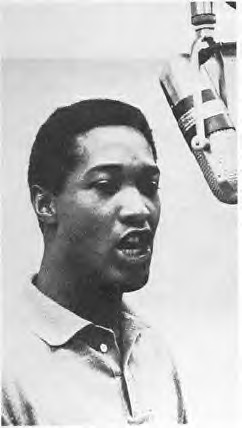 Sam Cooke in the recording studio  The artist made tremend