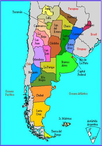 Mapa De Argentina Provincias.Mapa Provincias Argentinas Argentine Province Map Flickr