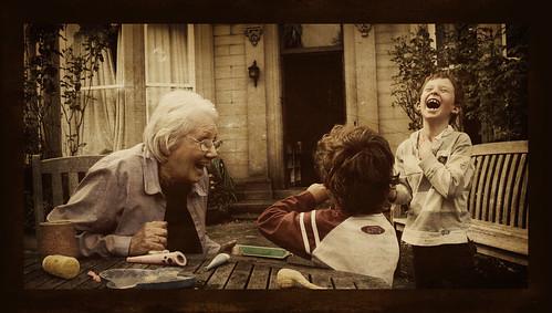 Grandma and the boys