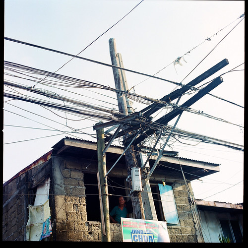 sky white man hot 120 film broken window analog mediumformat real raw philippines dry obsession hasselblad cavite quezoncity 500cm hasselblad500cm ilovefilm fujifilmpro800z obsessionwithpowerlines