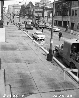 Fourth looking north from Cherry, 1960