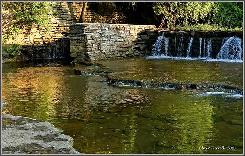 nature water creek sunrise river landscape waterfall stream