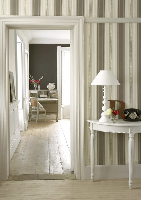 ... Living Room Hallway Maddox St Wallpaper | by The Little Greene Paint Company