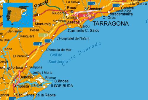 Mapa Costa Dorada Espana Muchoviaje Hoteles En Costa D Flickr