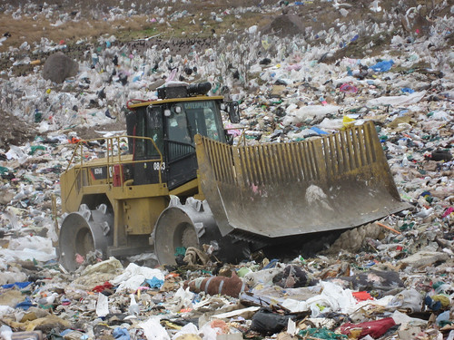 Heavy machinery at the Robin Hood Bay landfill | by ColinD13