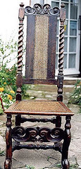 Antique chair with caned panel on the back | by allybeag