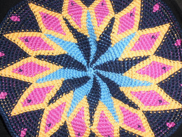 Tapestry Crochet experiment with 4 colours