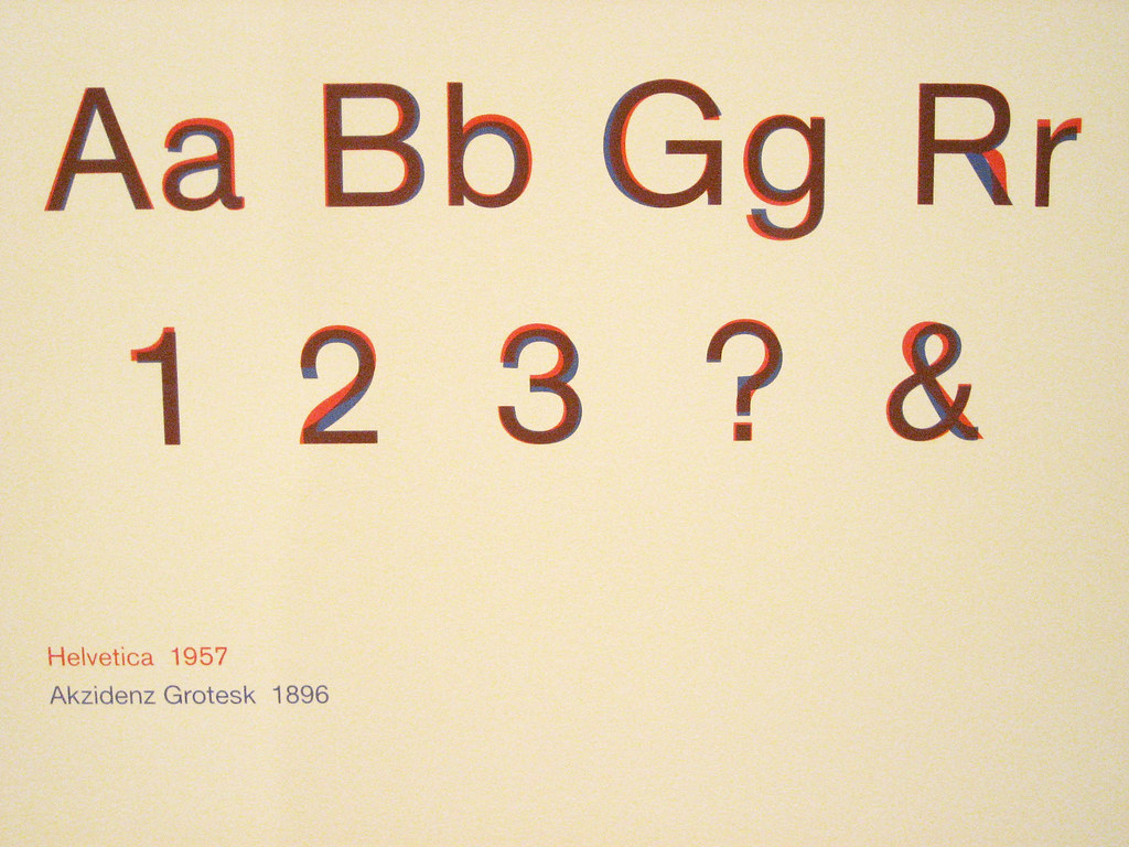 Helvetica vs  Akzidenz Grotesk | Helvetica is the one of my … | Flickr
