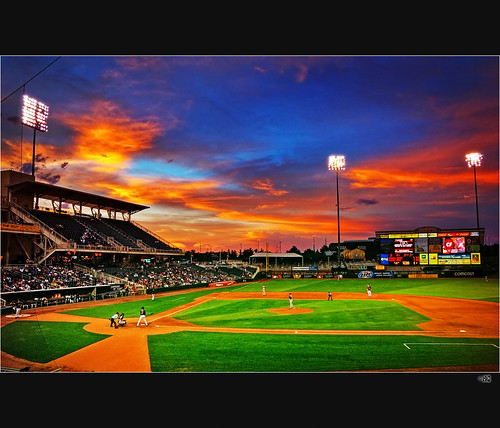 sunset orange newmexico colors night d50 lights hall nikon baseball action dusk fame albuquerque 18200 hdr vr isotopes 18200vr 1exposure colorphotoaward aplusphoto superhearts top20baseball