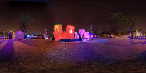 Ice Castle at the Quebec Winter Carnival | by haban hero