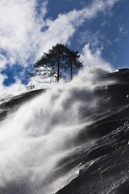 Bridal Veil Falls near Lake Serene, Washington
