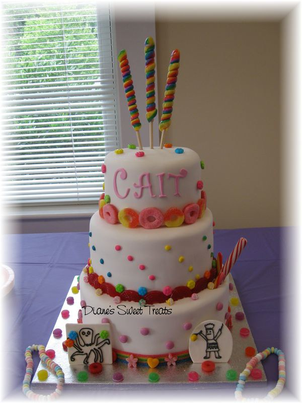 Awe Inspiring Caits Sweet 16 Candy Cake For A Sweet 16 With A Candyla Flickr Funny Birthday Cards Online Bapapcheapnameinfo