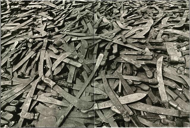 Machete Pile in Rwanda by James Nachtwey