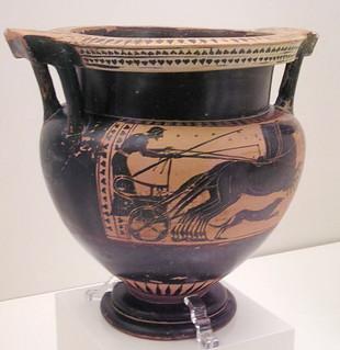 Figuras negras ceramica Museo Arqueologico Nacional de Atenas Grecia 128