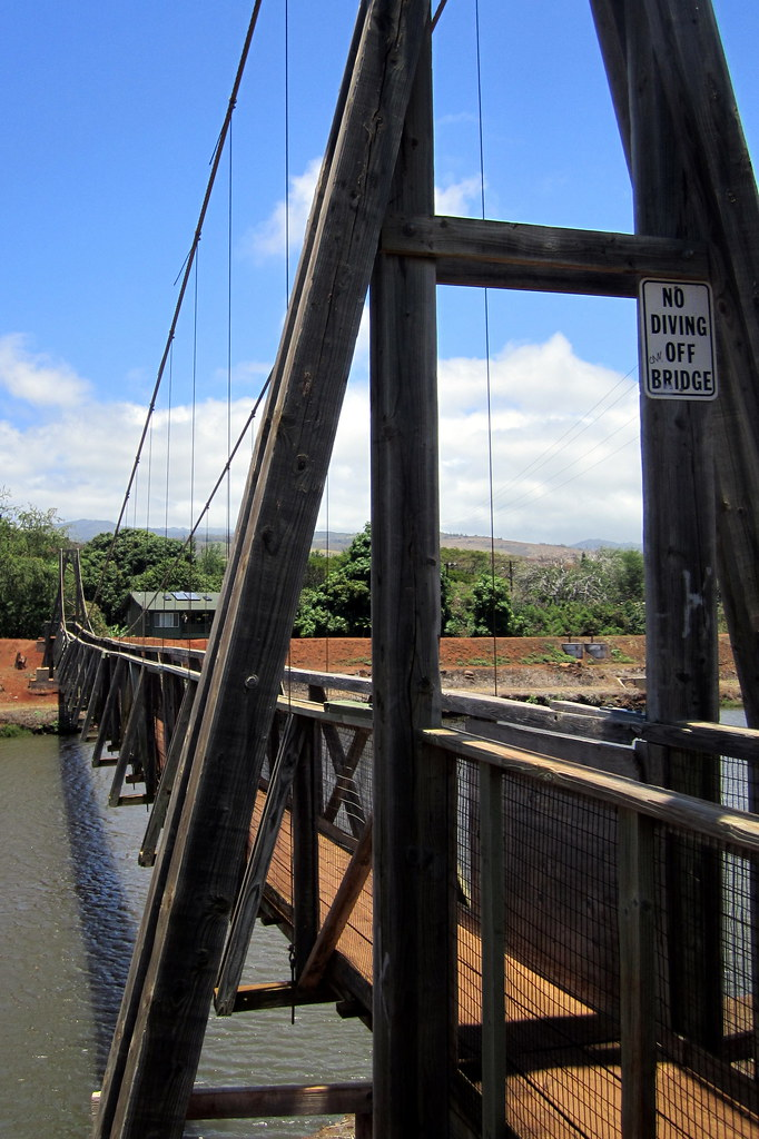 Kaua I Hanapepe Hanapepe Swinging Bridge The Hanapepe S
